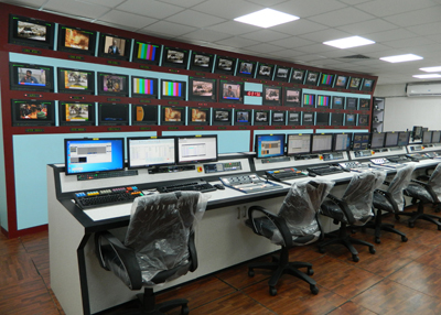 January 17, 2017<br>DOORDARSHAN INSTALLS LARGE IKEGAMI MONITOR WALL AT ITS CENTRAL PRODUCTION CENTRE IN NEW DELHI