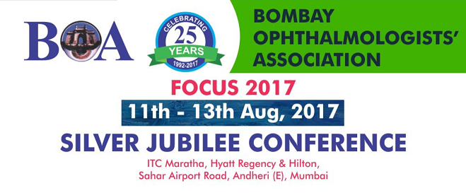 2017/8/11-8/13<br>Bombay Ophthalmology Association FOCUS 2017 (BOA 2017)
