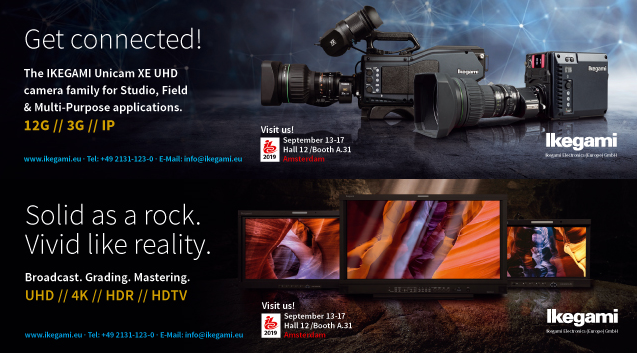 Ikegami sets HDR and IP at Centre Stage for IBC 2019